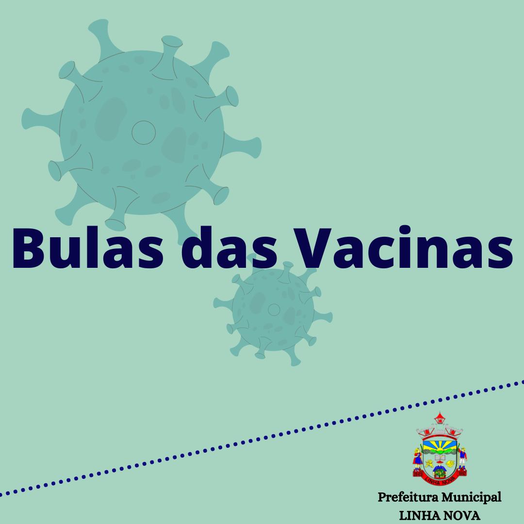 BULAS - VACINAS