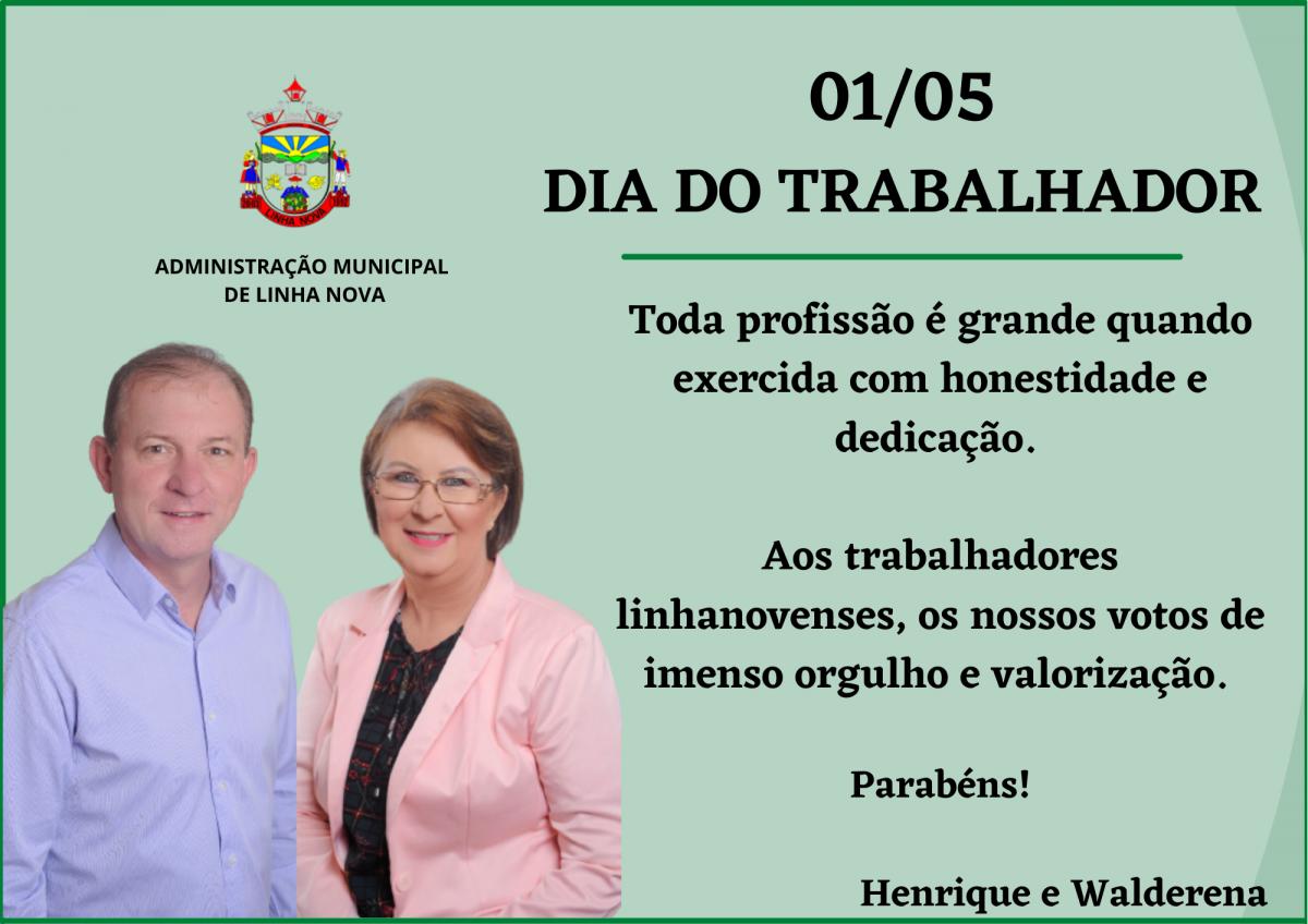 01/05 - Dia do Trabalhador