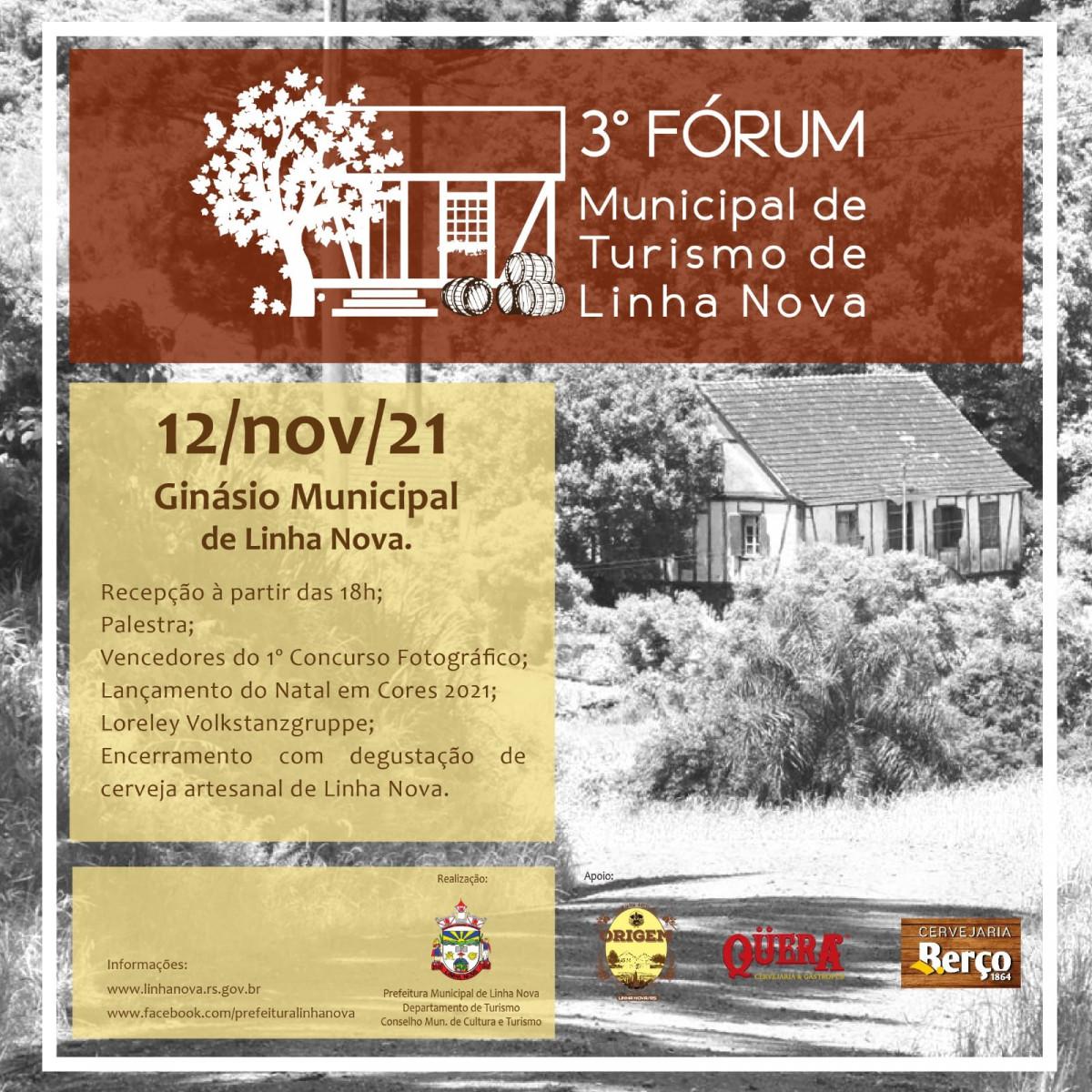 3ª edição do Fórum Municipal de Turismo acontecerá dia 12 de Novembro