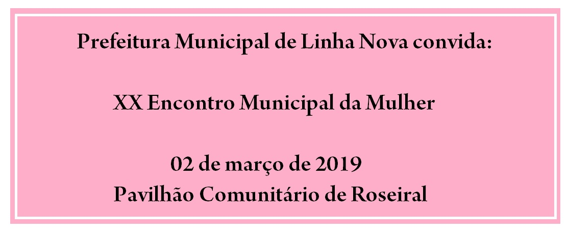 XX Encontro Municipal da Mulher