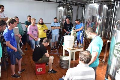 1º Curso de Cerveja Artesanal encerrou neste sábado, dia 28/04.