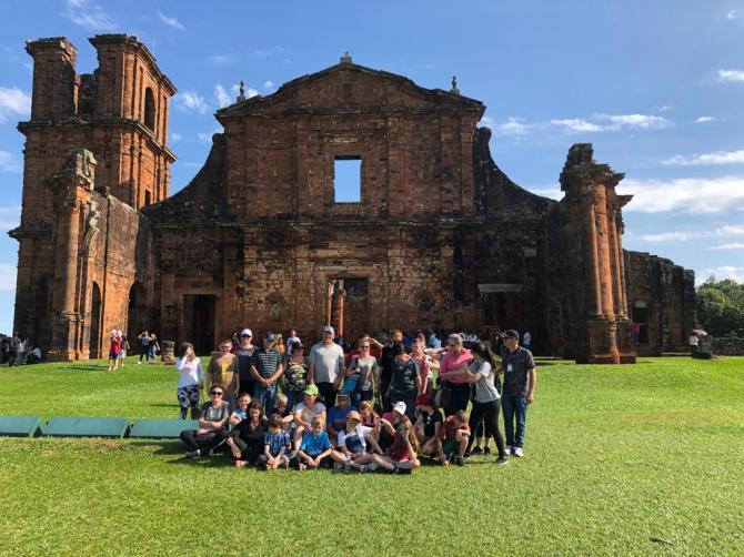 Alunos visitam Missões Jesuíticas