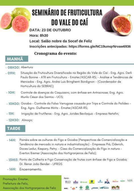 ASCAR/EMATER - RS convida para Seminário de Fruticultura