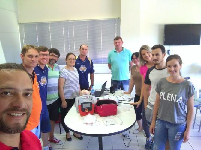 Equipe do Centro de Saúde de Linha Nova recebe treinamento