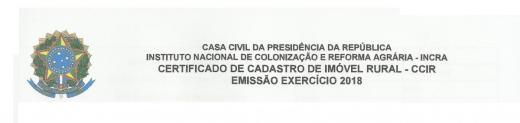 Proprietários de imóvel rural podem emitir a CCIR-2018 na Prefeitura