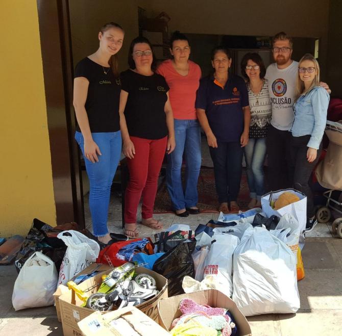 Doações arrecadas em Linha Nova são entregues ao Abrigo Municipal de São Sebastião do Caí