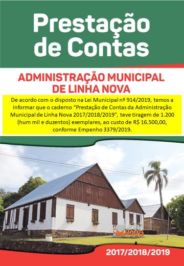 A Administração Municipal de Linha Nova informa: