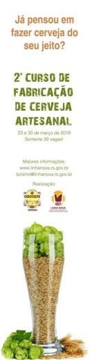 Terça-feira 19/03 é o  último dia para inscrição para o Curso de  Cerveja Artesanal