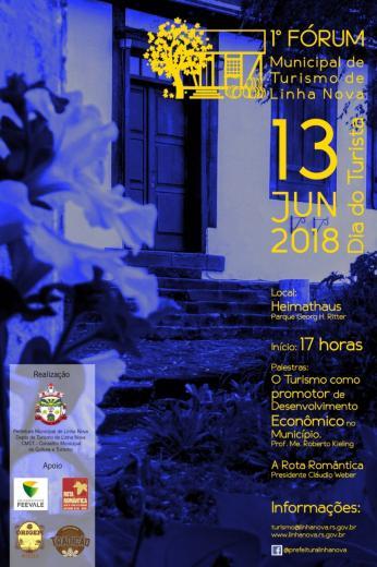 Linha Nova promove 1º Fórum de Turismo no dia 13 de junho.