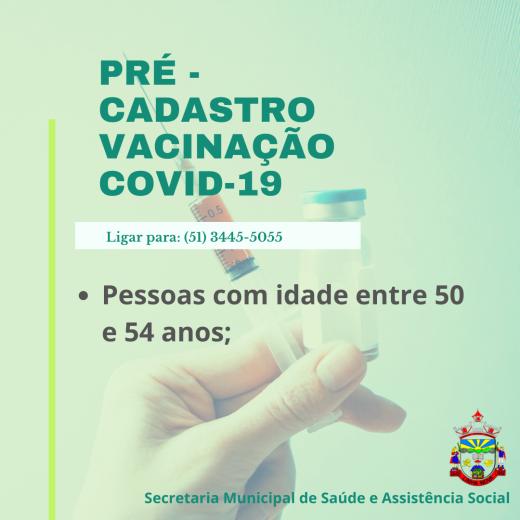 VACINAÇÃO COVID-19 - Pessoas com idade entre 50 e 54 anos